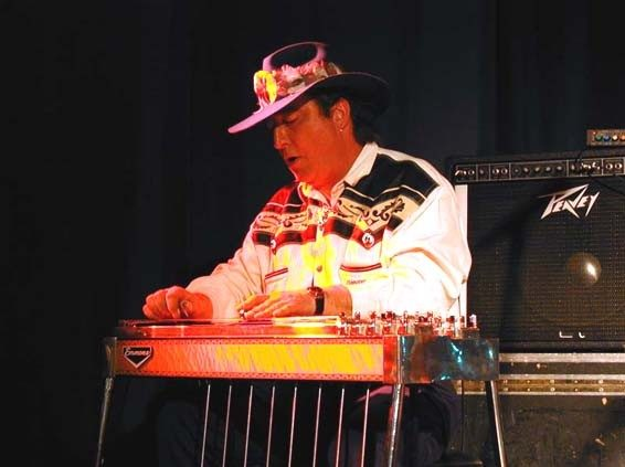 With my Emmons pedal steel